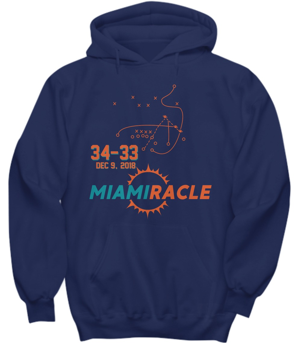 Miami Miracle Funny Miami Football Dolphins shirt hoodie