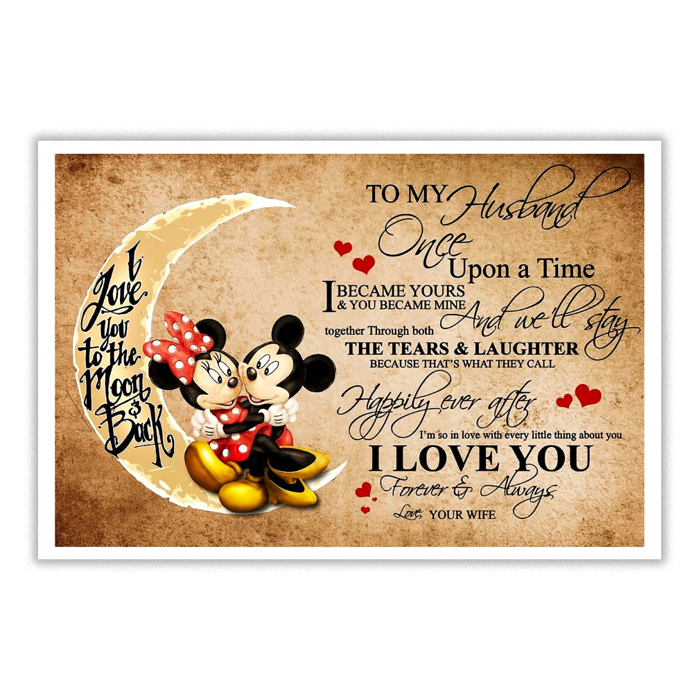 Mickey Once upon a time I became yours and you became mine poster