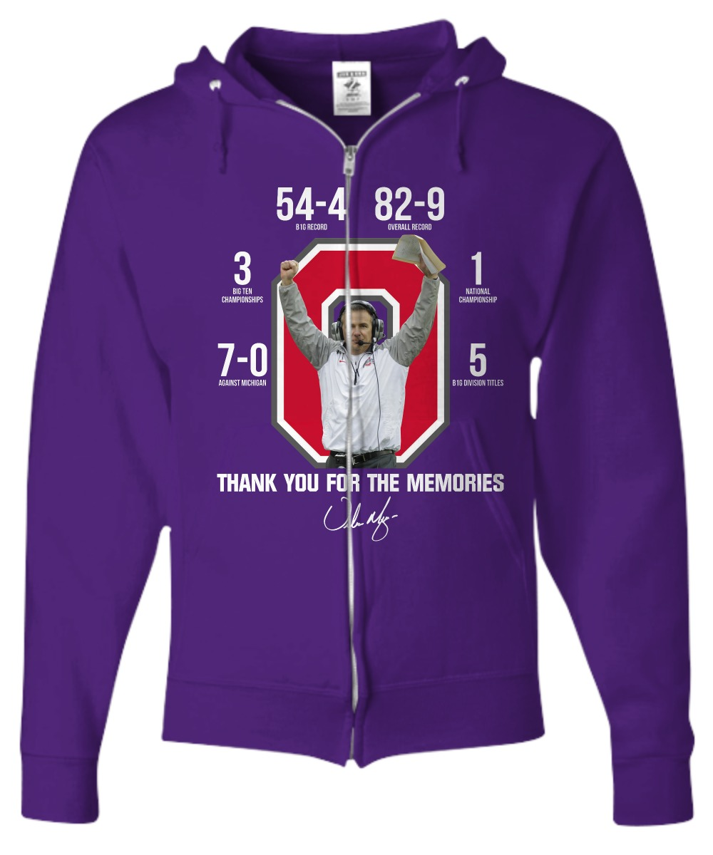 a5d245310 Ohio State Buckeyes Thank you for the memories shirt, zip hoodie ...