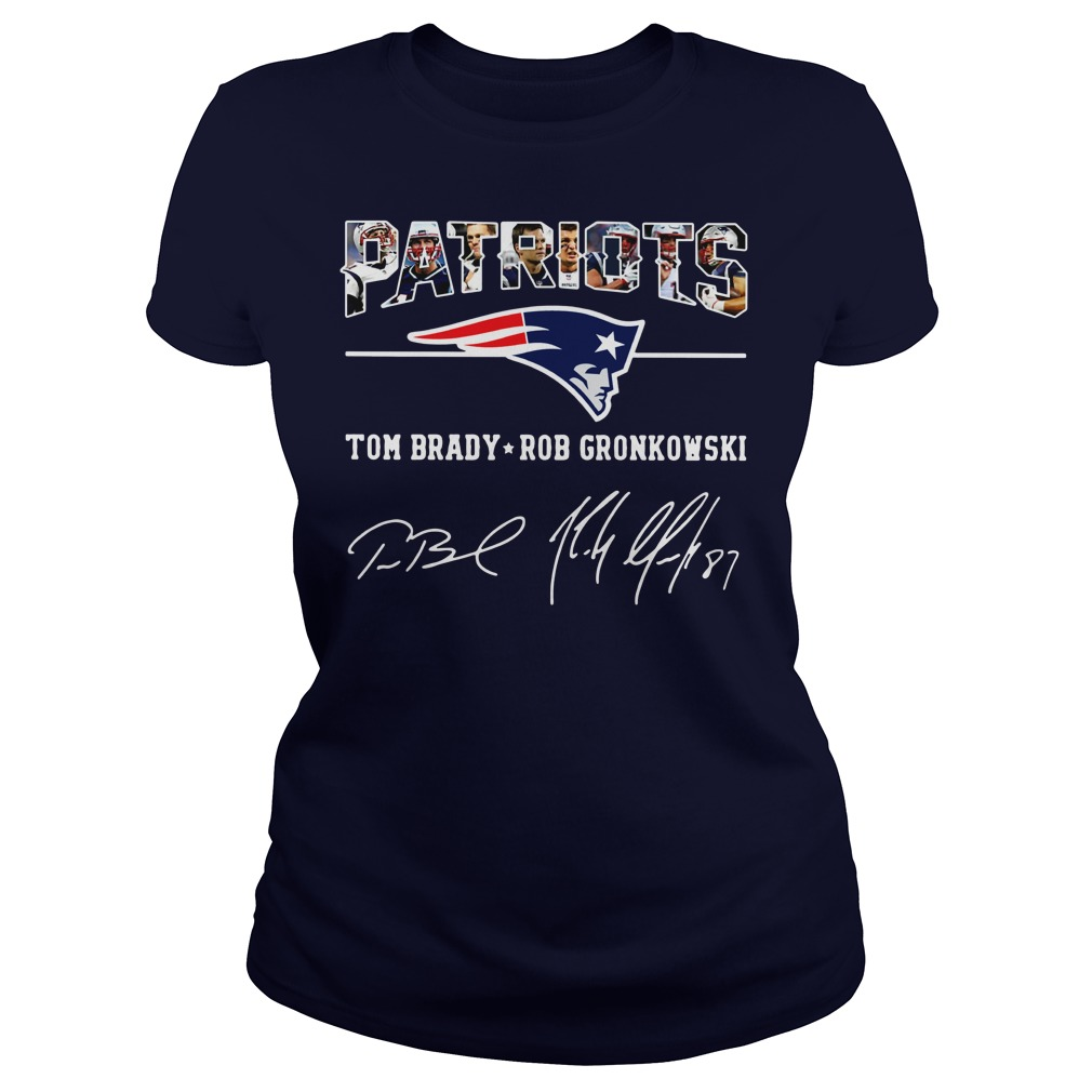 Patriots Tom Brady Rob Gronkowski Shirt lady tee