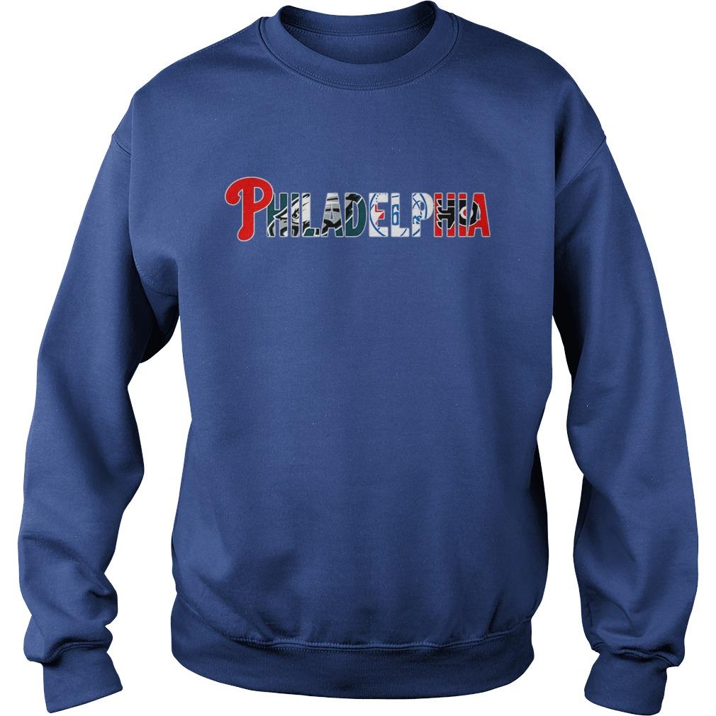 Philadelphia Sports Teams Logos shirt sweat shirt