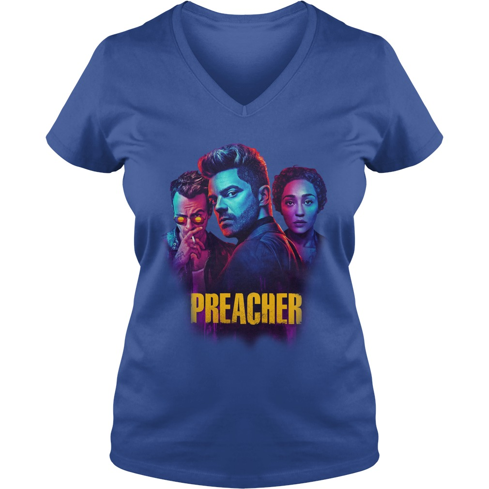 Preacher Season 2 Comic Book Cult Tv Show shirt lady v-neck