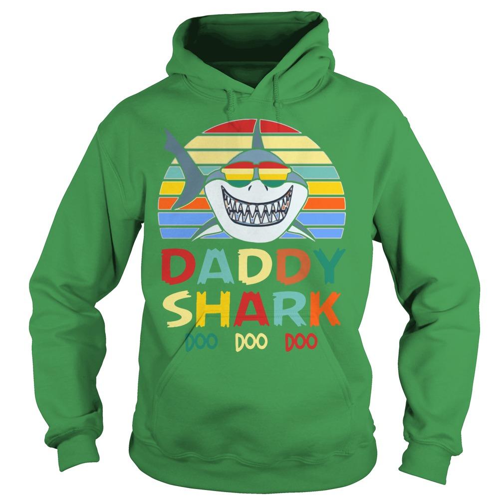 Retro Vintage Daddy Shark Doo Doo Doo shirt hoodie