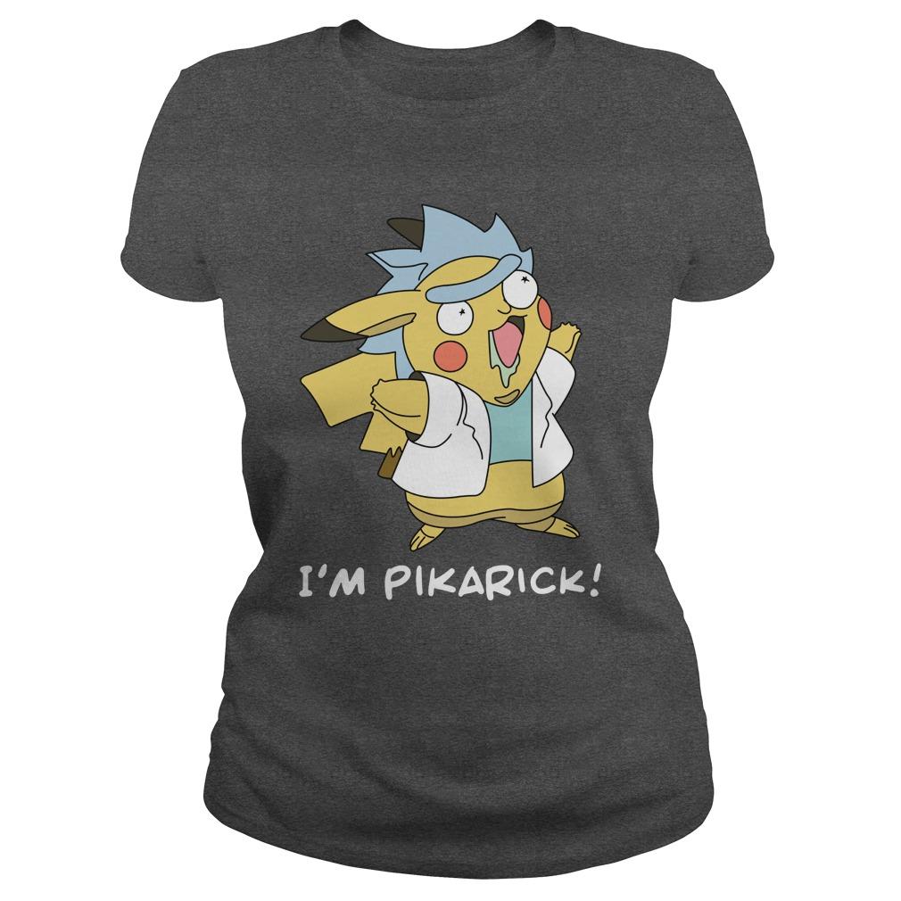 Rick and Morty Fusion Pikachu I'm Pikarick shirt lady tee