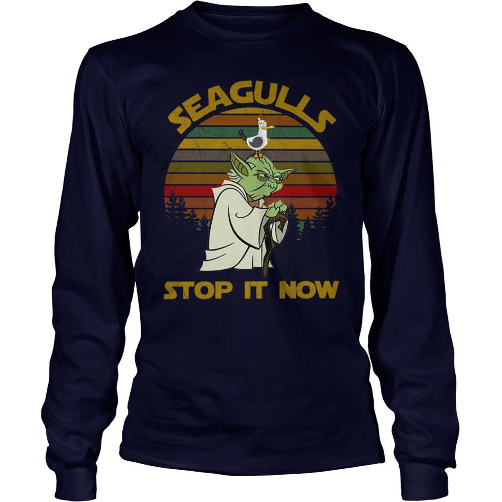 Star Wars Yoda - Seagulls Stop It Now shirt unisex longsleeve tee