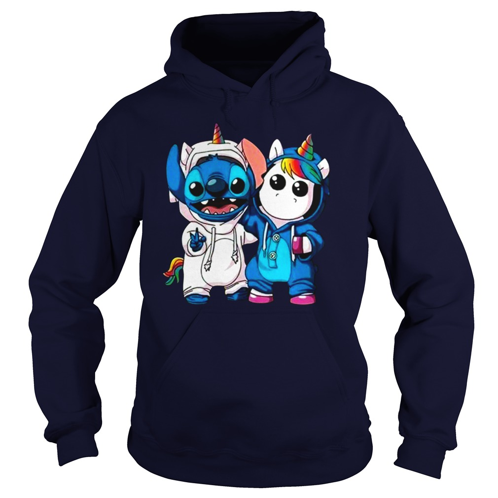 Stitch and baby unicorn shirt hoodie