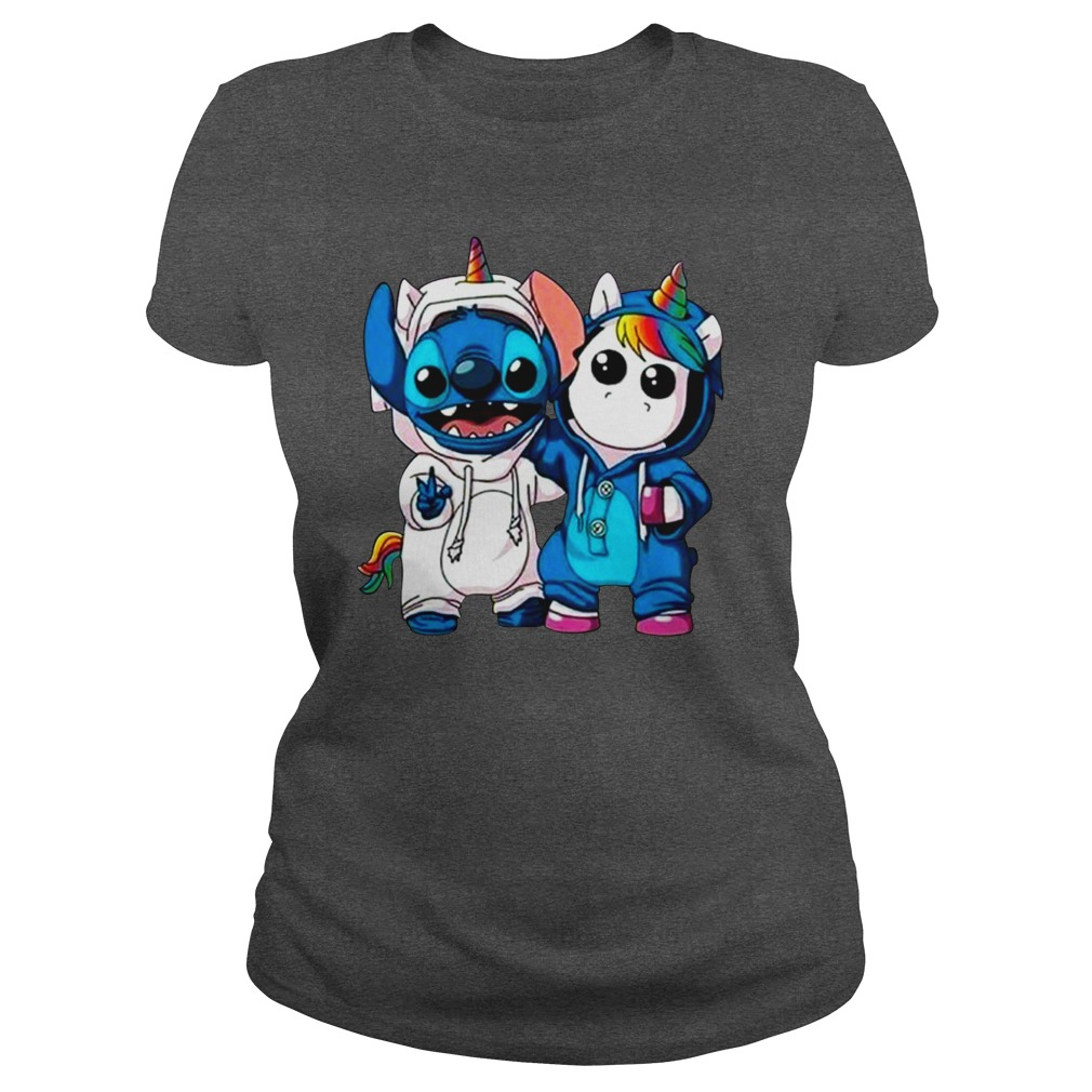 Stitch and baby unicorn shirt lady tee