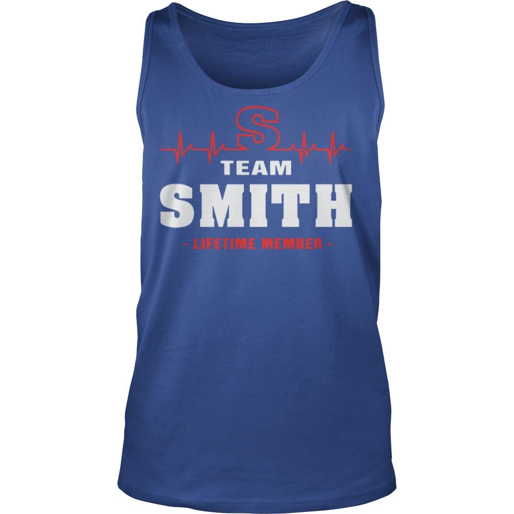 Team Smith lifetime member shirt unisex tank top