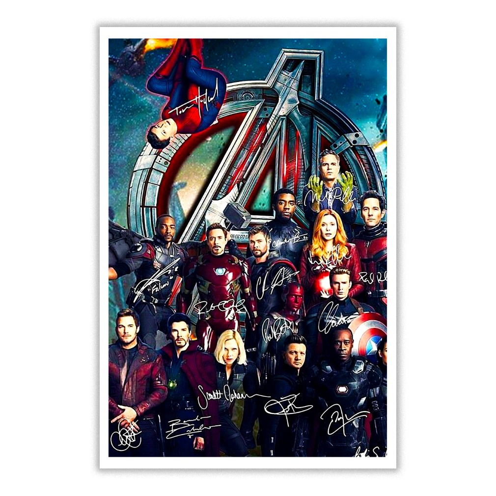 The Avengers All heroes signature poster