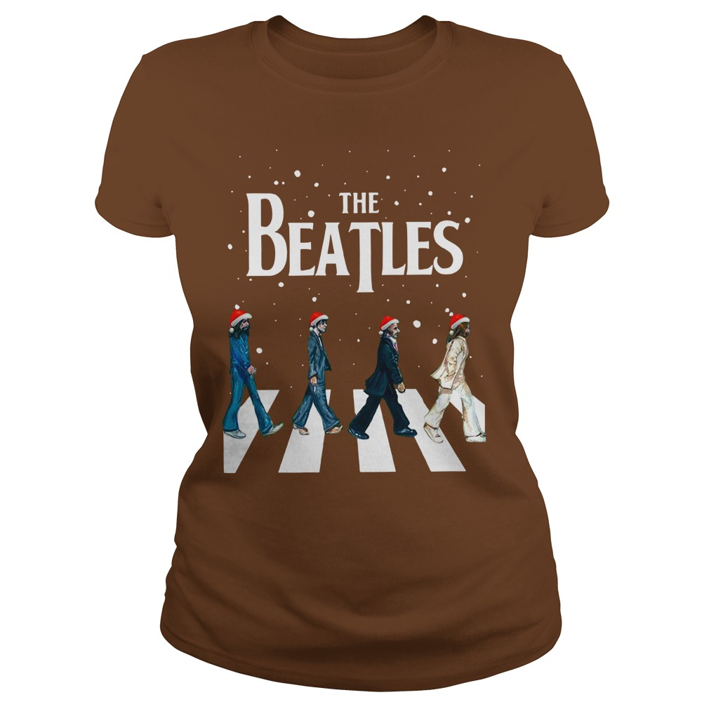 The Beatles Abbey Road christmas shirt lady tee