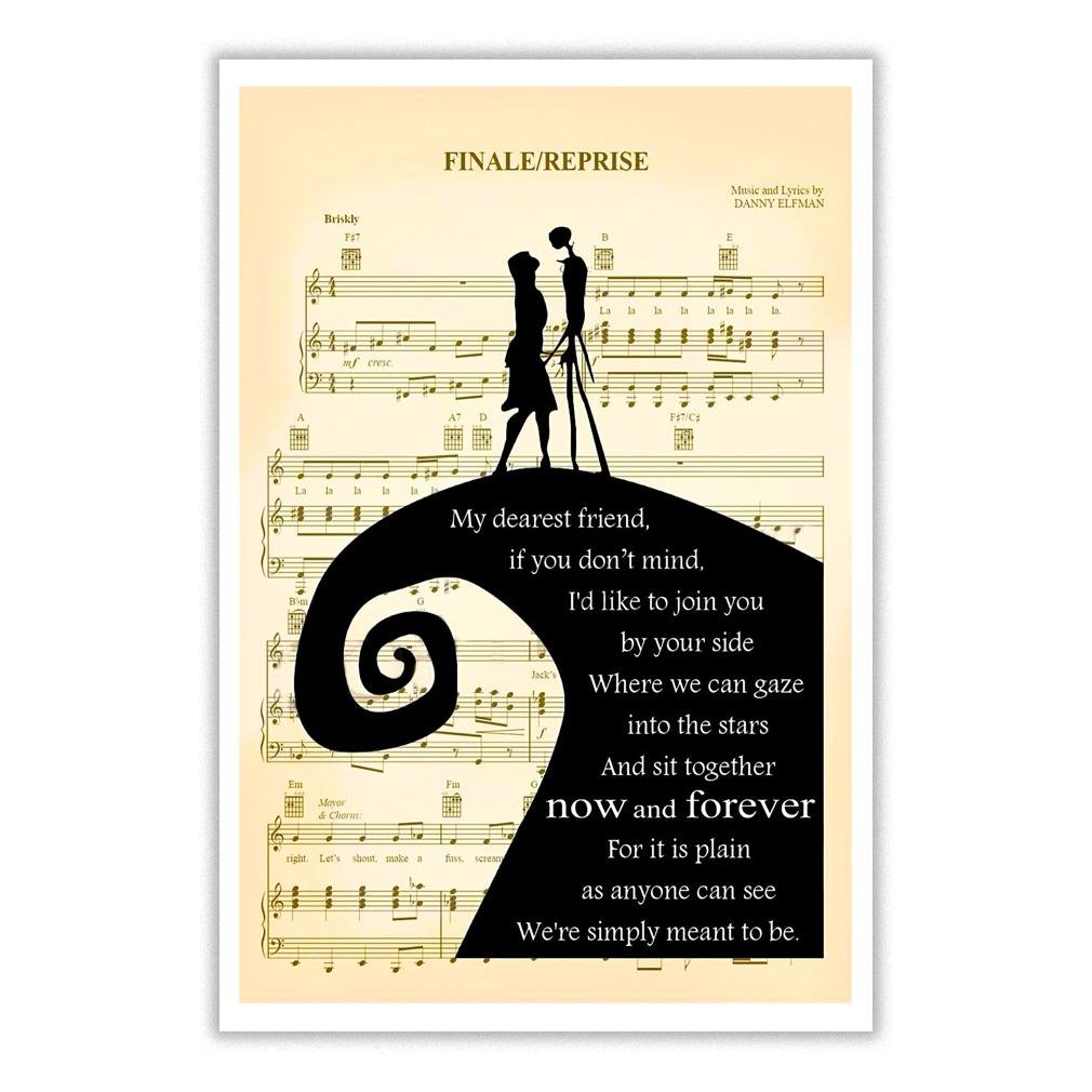 The Nightmare Before Christmas Finale Reprise Lyric Poster