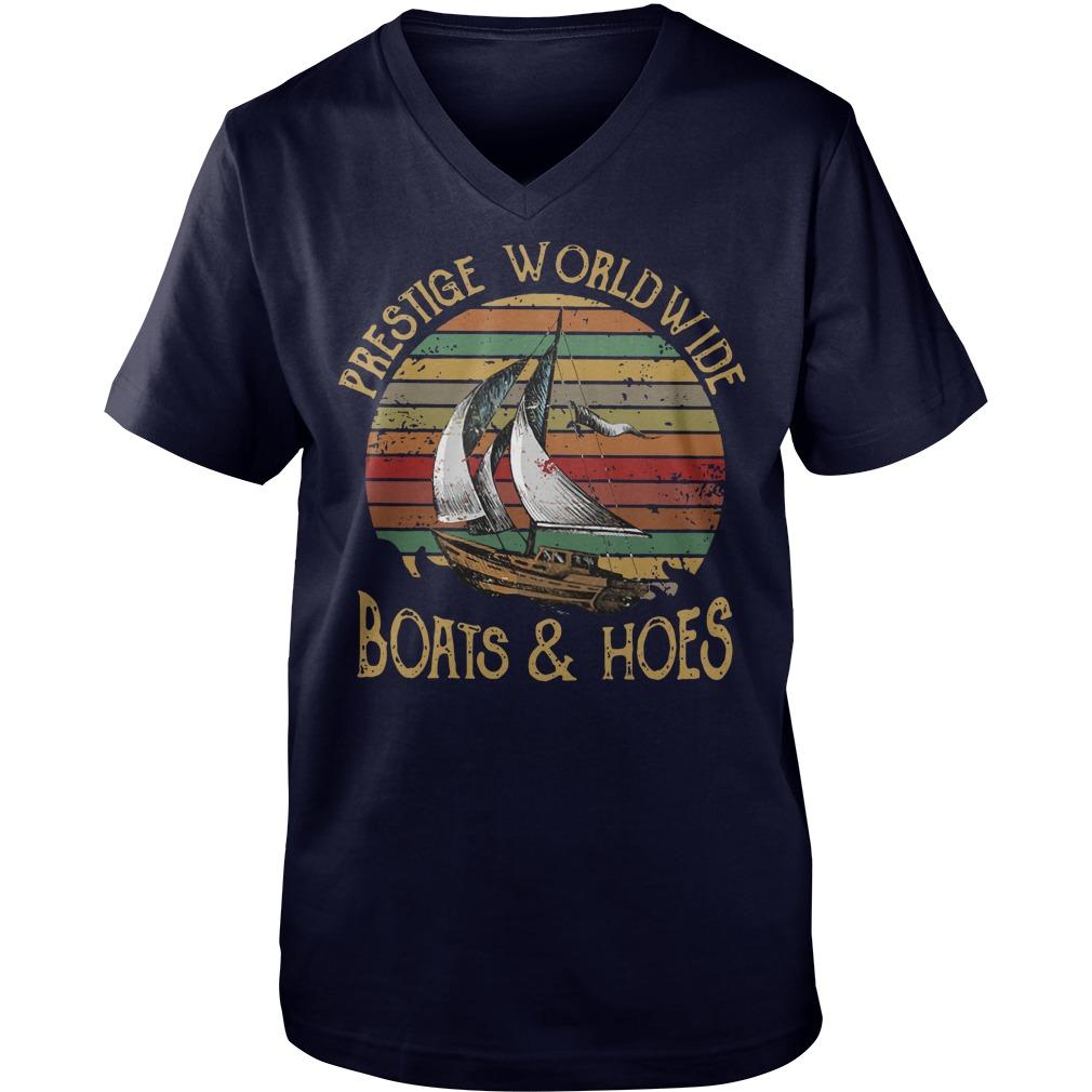 Vintage prestige worldwide boats and hoes shirt guy v-neck