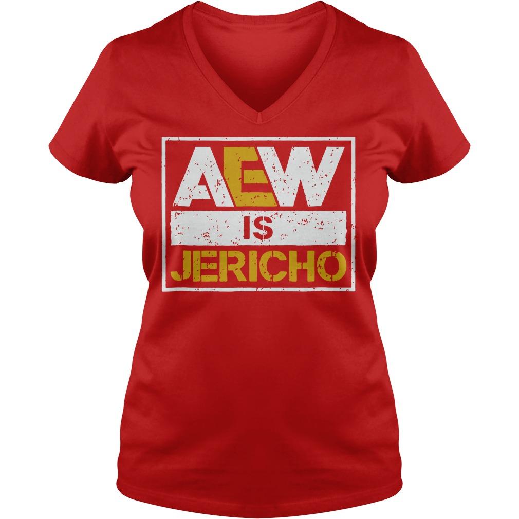 Aew is Jericho shirt lady v-neck