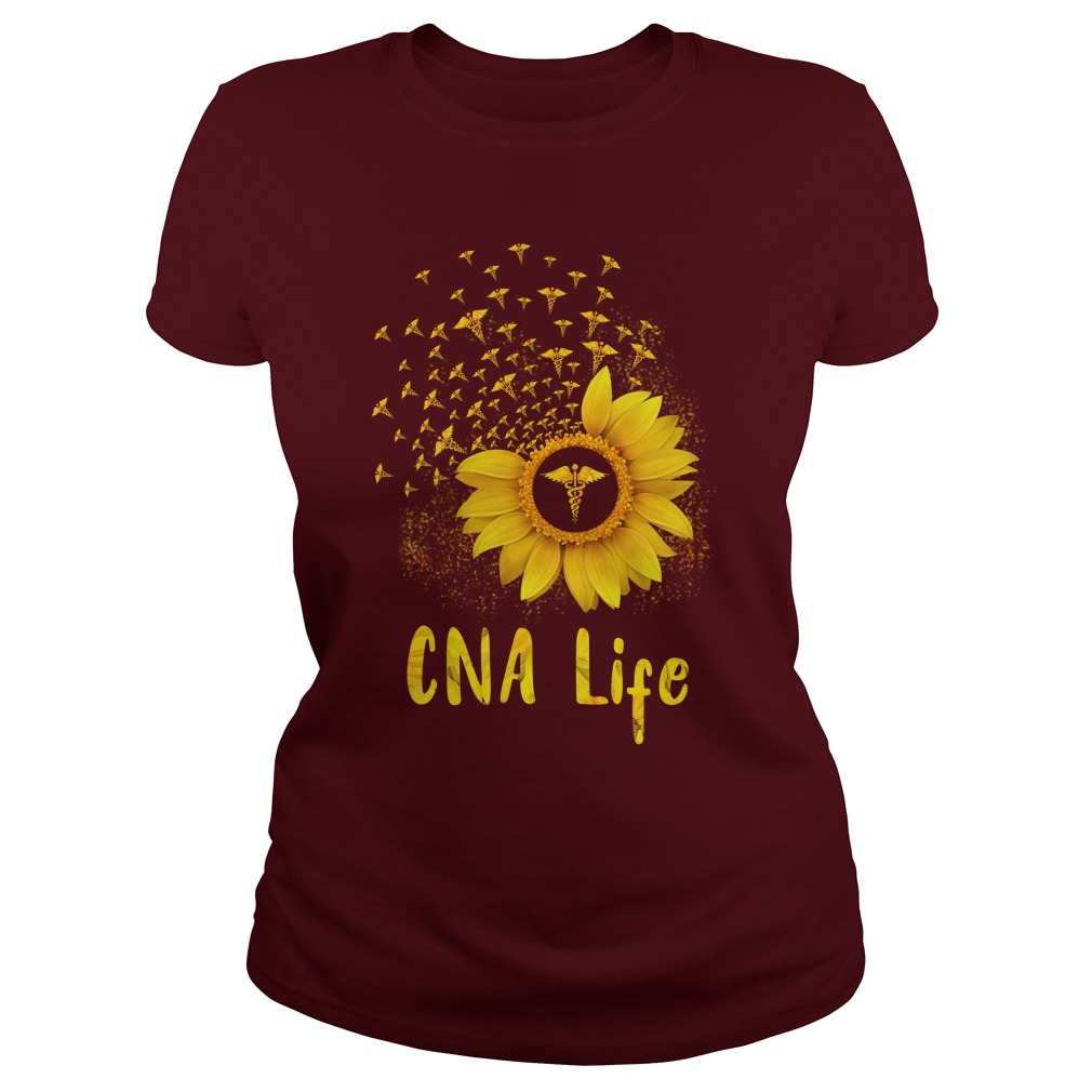 CNA Life Sunflower shirt lady tee