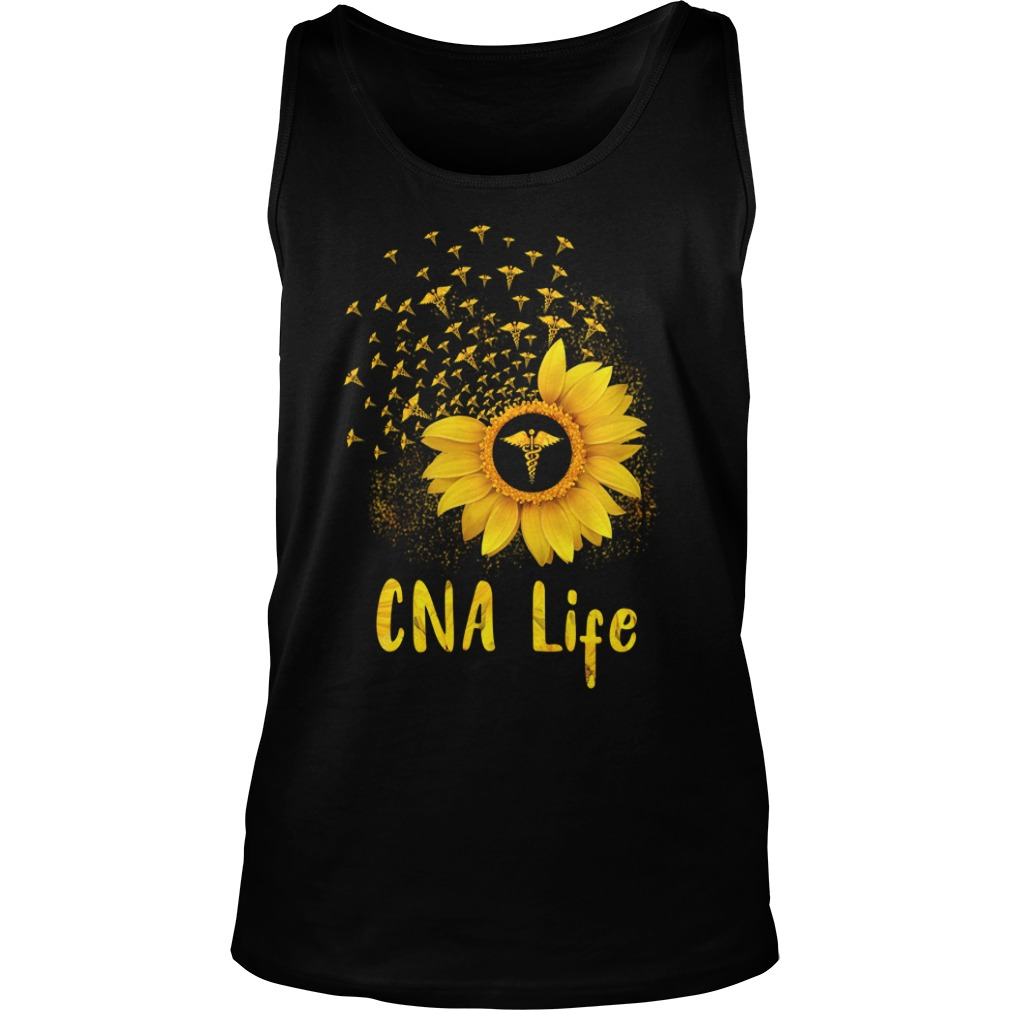 CNA Life Sunflower shirt unisex tank top
