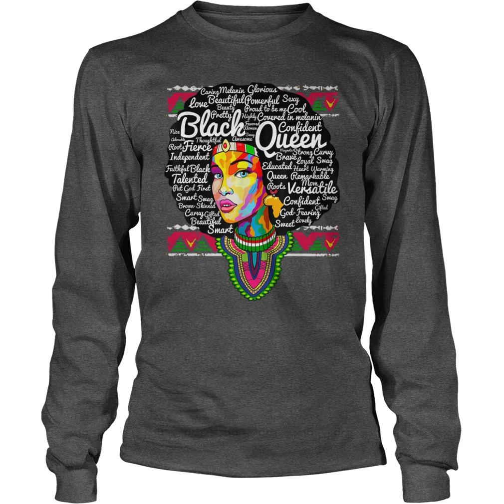 Dashiki Black History - Educated Melanin shirt unisex longsleeve tee