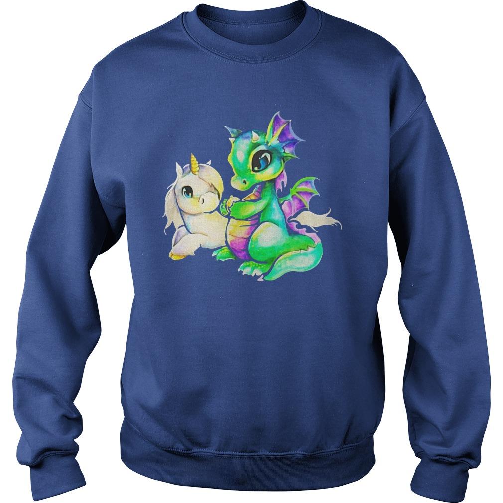 Dragon and Unicorn shirt sweat shirt