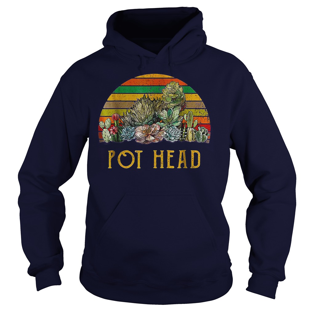 Pot Headstone Flowers Vintage Retro Sunset shirt hoodie