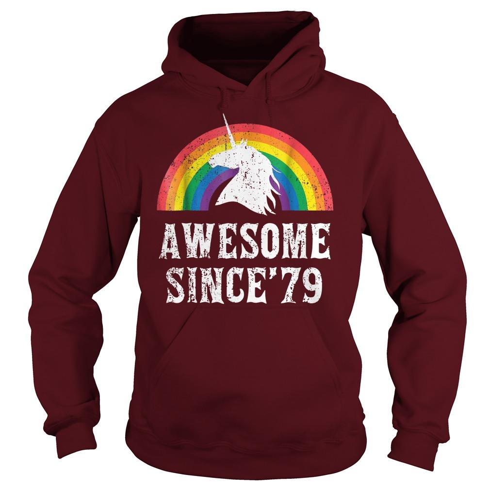 Unicorn 40th Birthday Gift Rainbow 1979 40 Years Old shirt hoodie