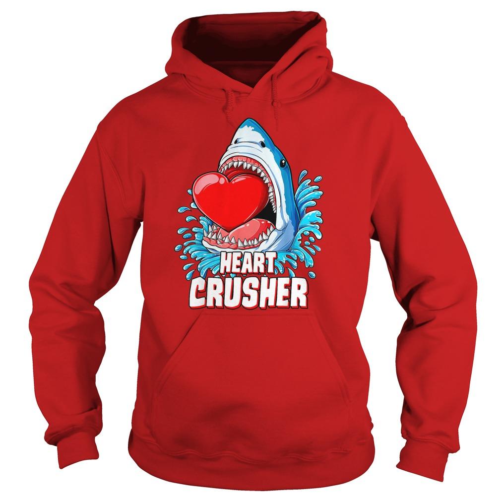 Heart Crusher Shark Valentines Day shirt hoodie