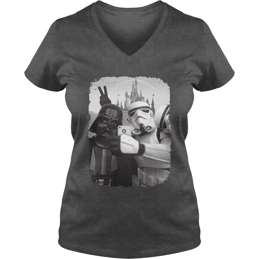 Star wars empire selfie with darth vader and stormtrooper shirt lady v-neck