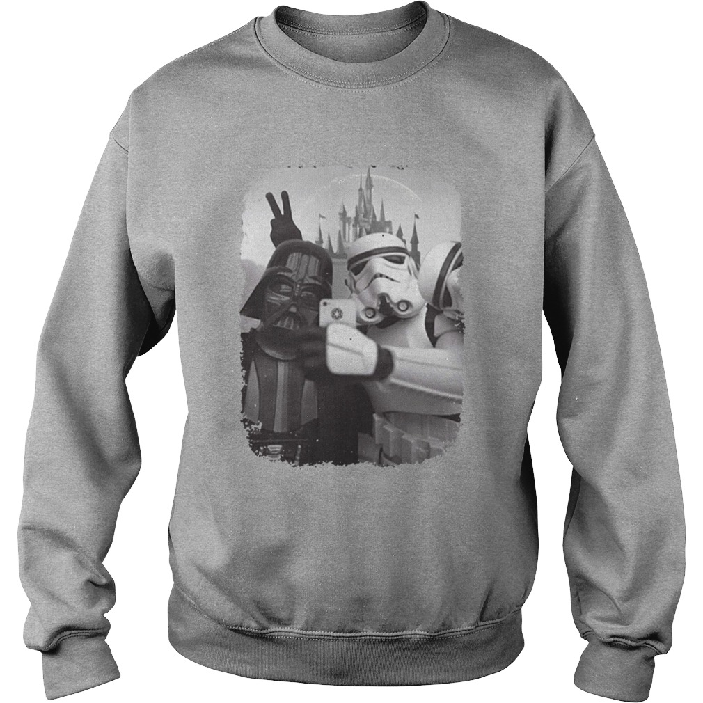 Star wars empire selfie with darth vader and stormtrooper shirt sweat shirt