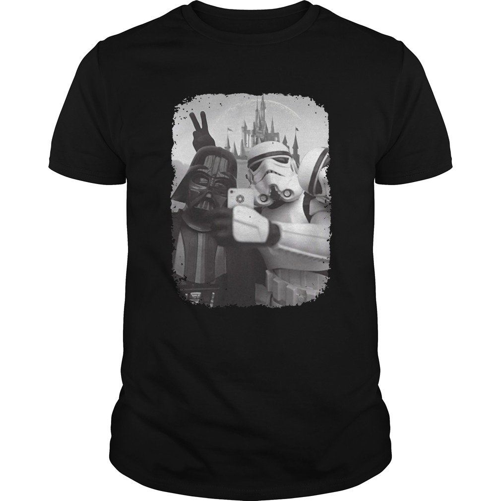 Star wars empire selfie with darth vader and stormtrooper shirt unisex tee