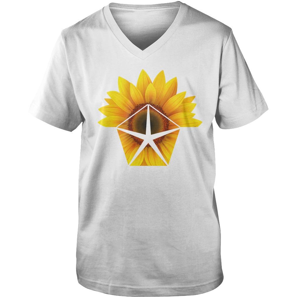 Sunflower Chrysler shirt guy v-neck