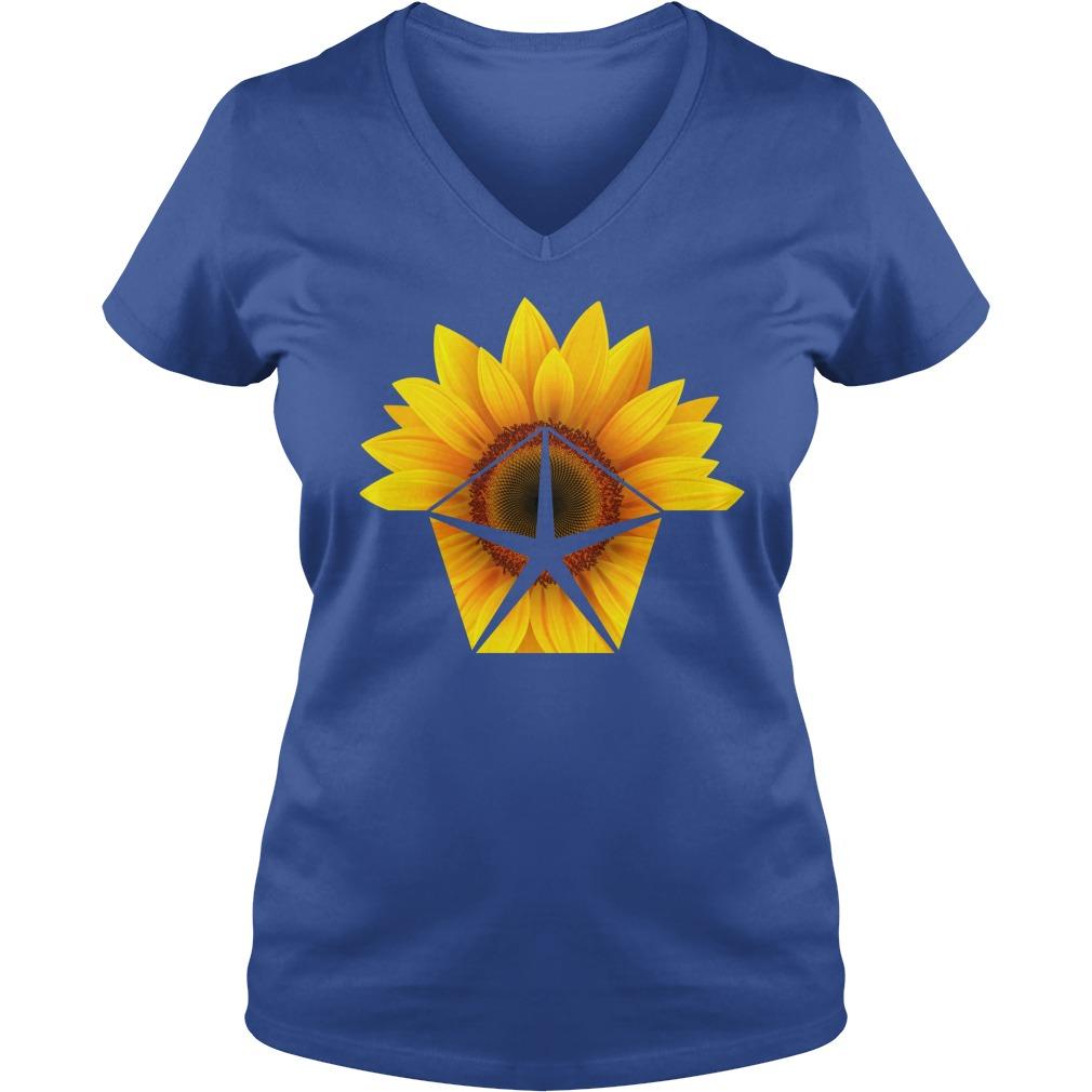 Sunflower Chrysler shirt lady v-neck
