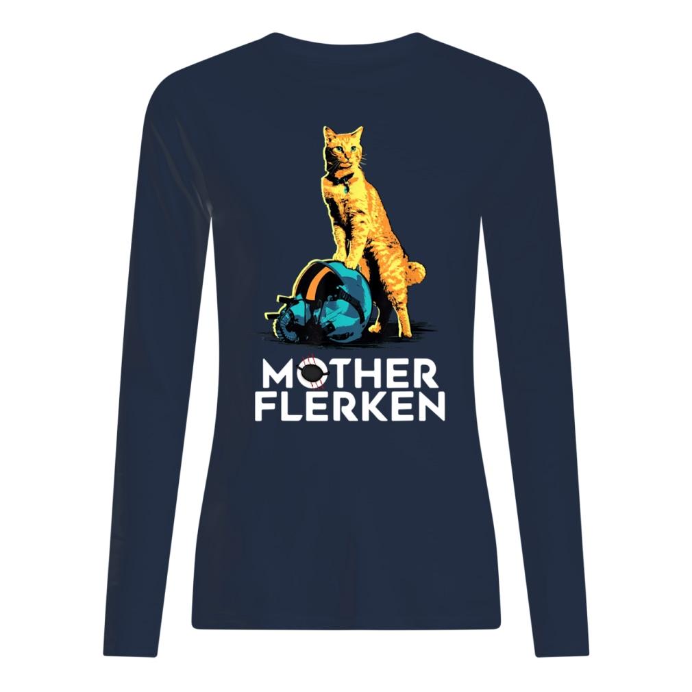 Captain Marvel Goose The Cat Mother Flerken shirt women's long sleeved t-shirt