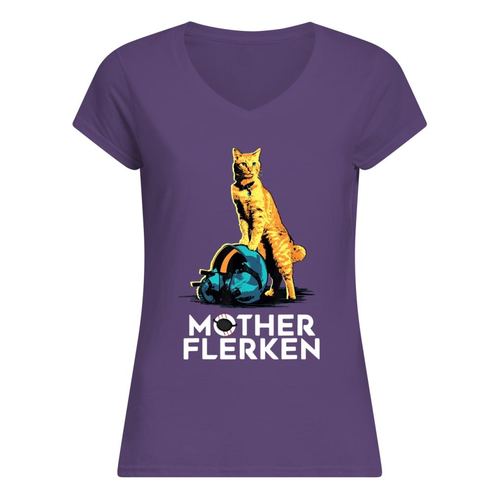 Captain Marvel Goose The Cat Mother Flerken shirt women's v-neck t-shirt