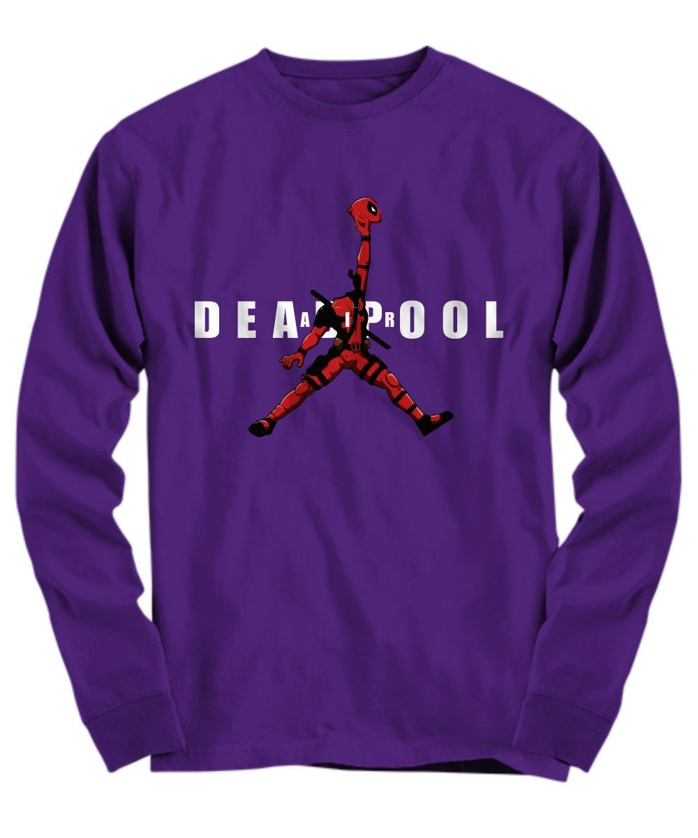 Deadpool jordan jumpman air shirt Long Sleeve Tee