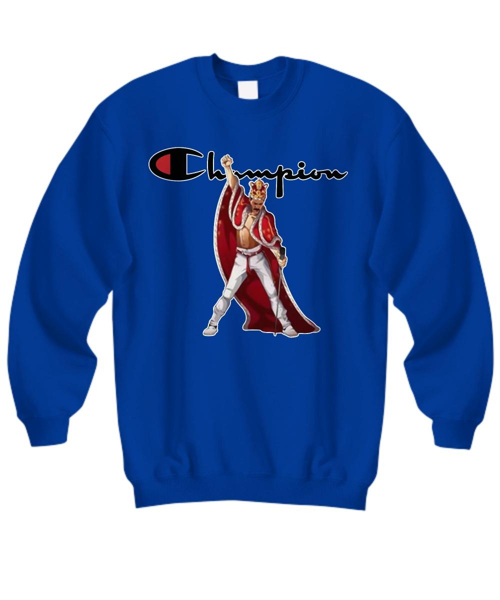 super populaire d215e 3f76f Freddie Mercury king robe and crown champion shirt, Sweatshirt, Long Sleeve  Tee
