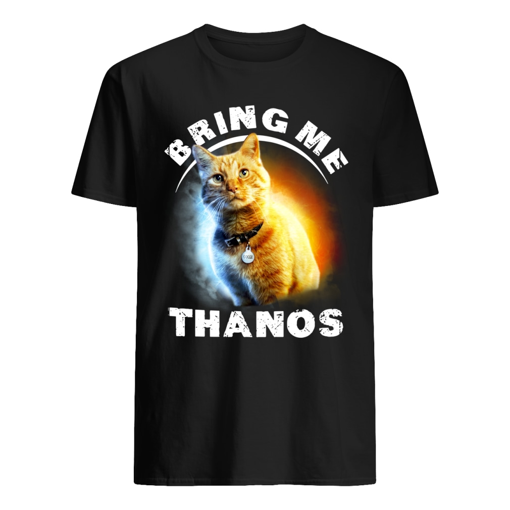 Goose Cat bring me Thanos Captain Marvel shirt classic men's t-shirt