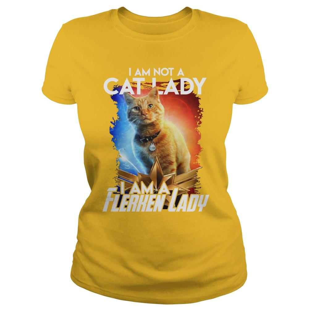 Goose cat I am not a cat lady I am a Flerken lady shirt lady tee
