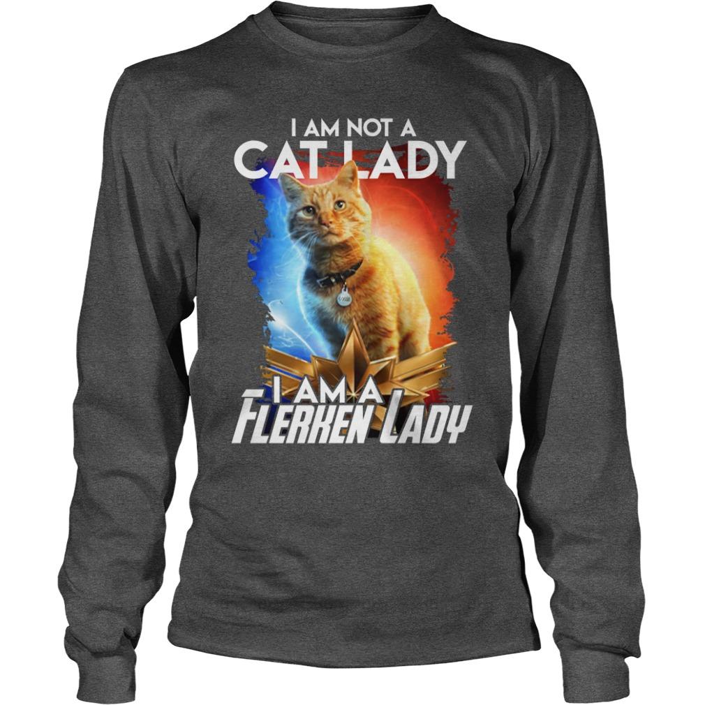 Goose cat I am not a cat lady I am a Flerken lady shirt unisex longsleeve tee
