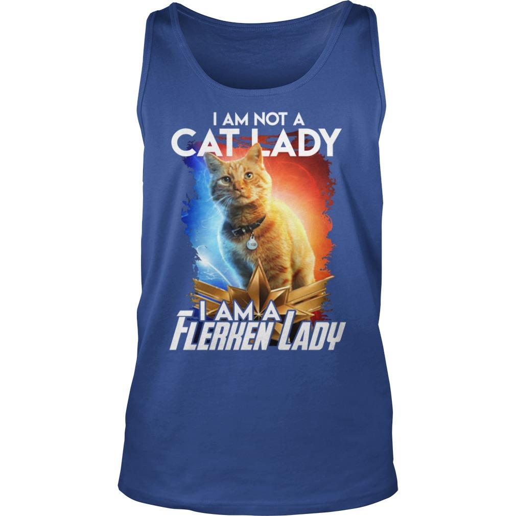 Goose cat I am not a cat lady I am a Flerken lady shirt unisex tank top