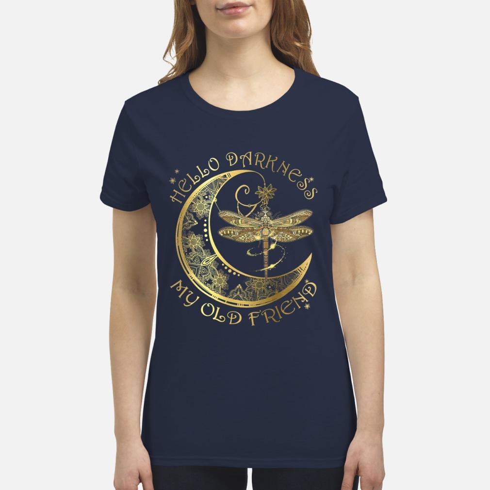 Hello darkness my old friend dragonfly moon shirt premium women's t-shirt