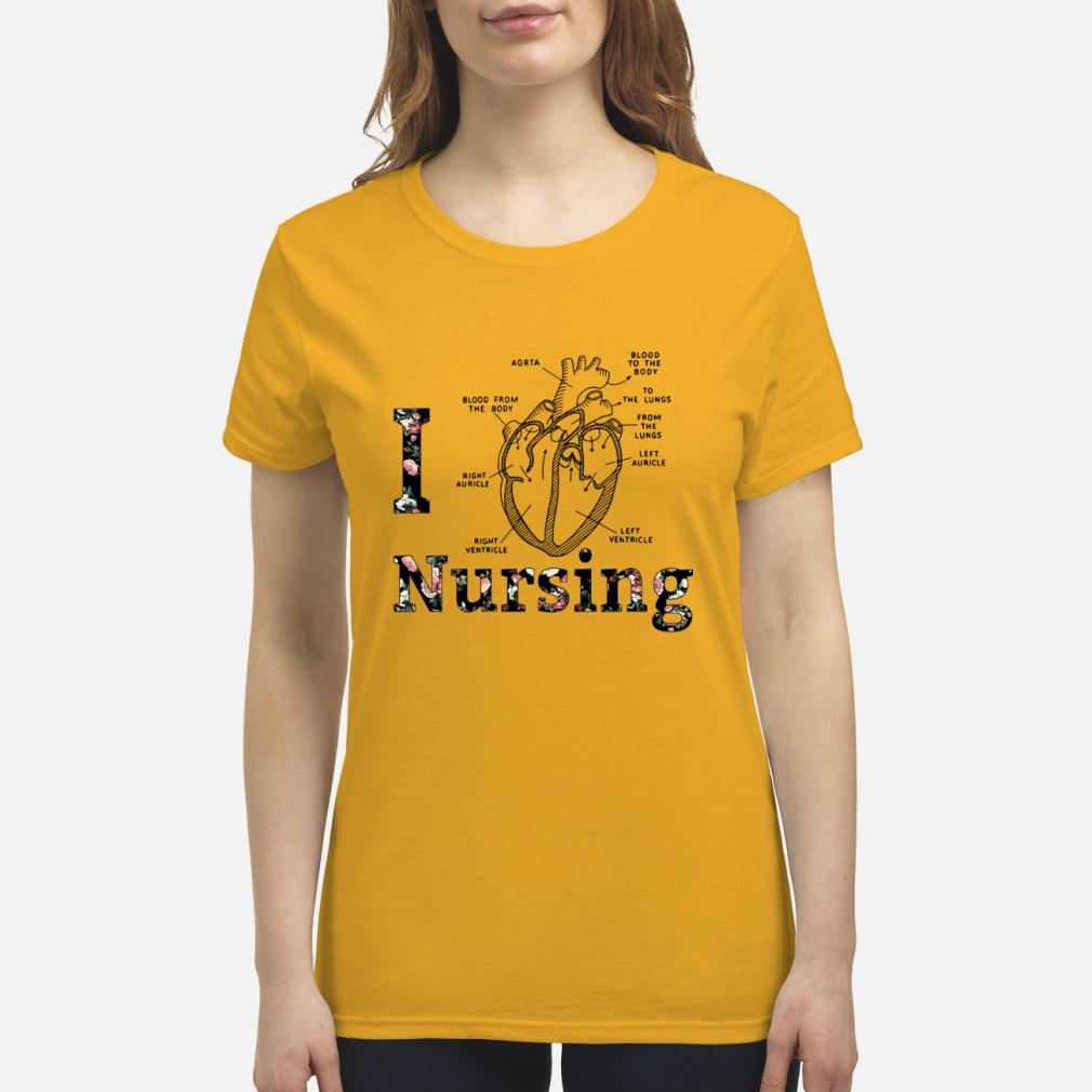 I Heart Nursing shirt premium women's t-shirt