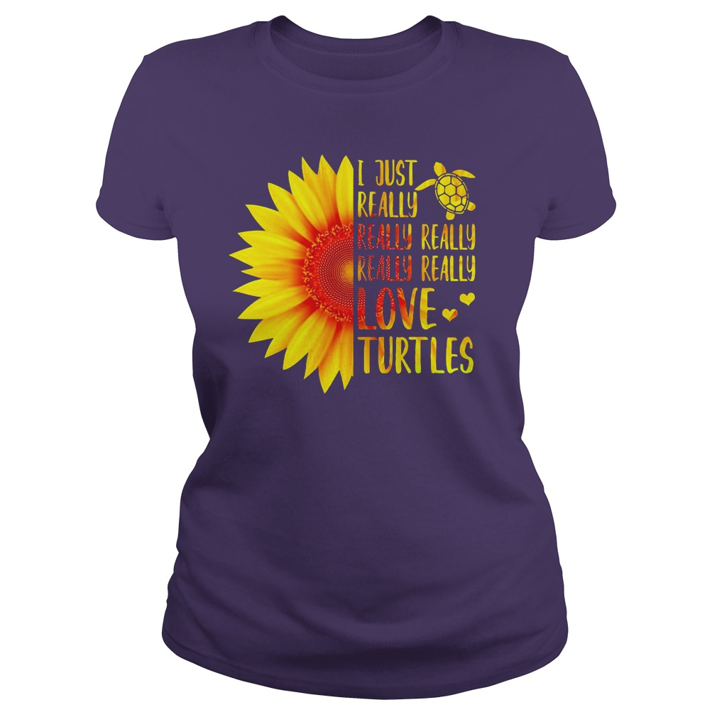 I just really really really love Turtles Sunflower shirt lady tee