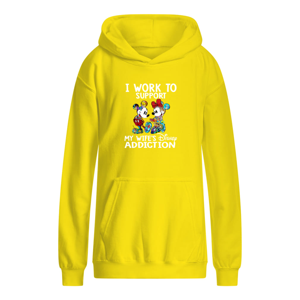 I work to support my wife's Disney addiction Mickey and Minnie version shirt kids hoodie