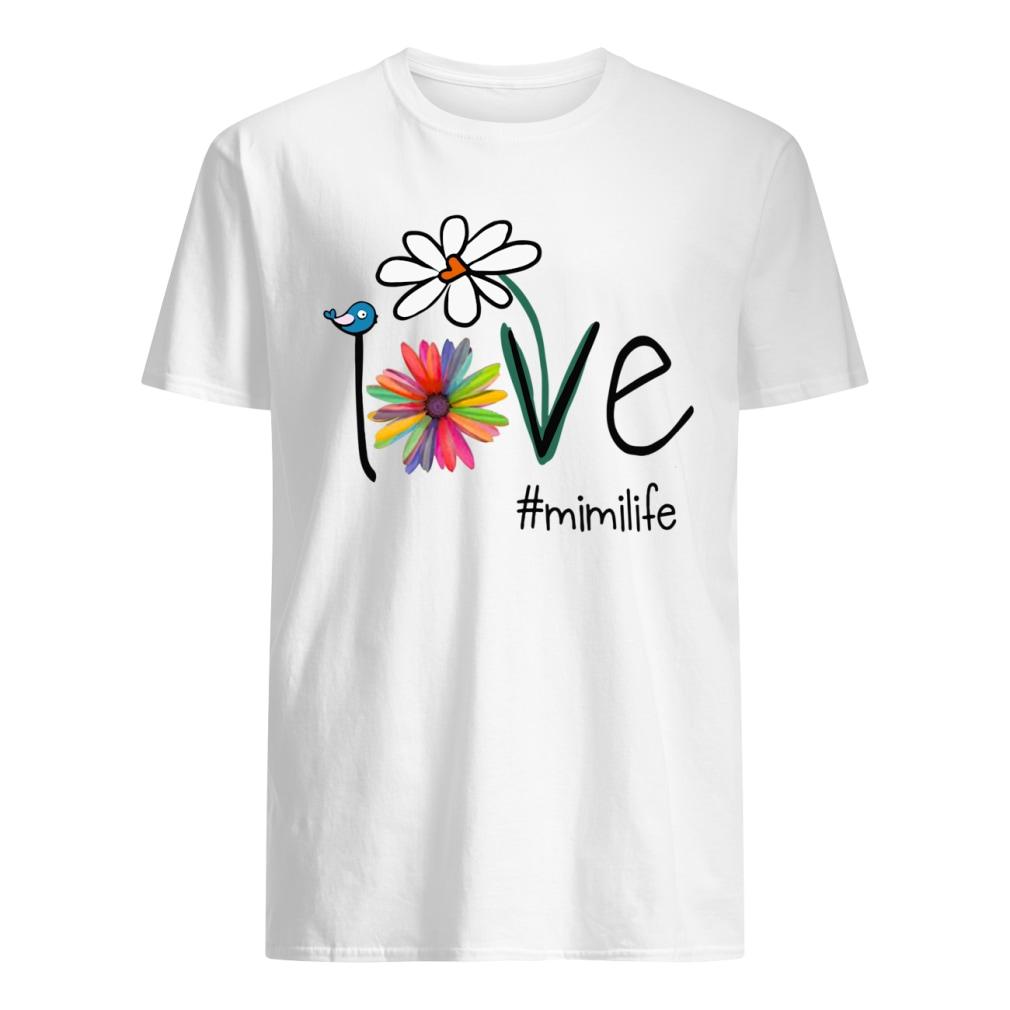 Mimilife Bird Flower Love shirt classic men's t-shirt