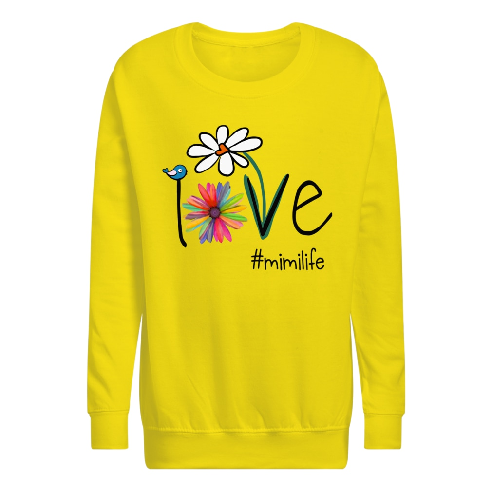 Mimilife Bird Flower Love shirt kids sweatshirt