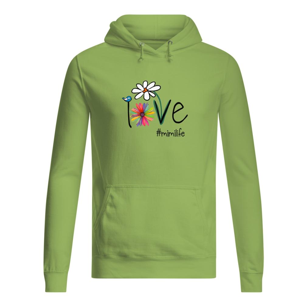 Mimilife Bird Flower Love shirt women's hoodie