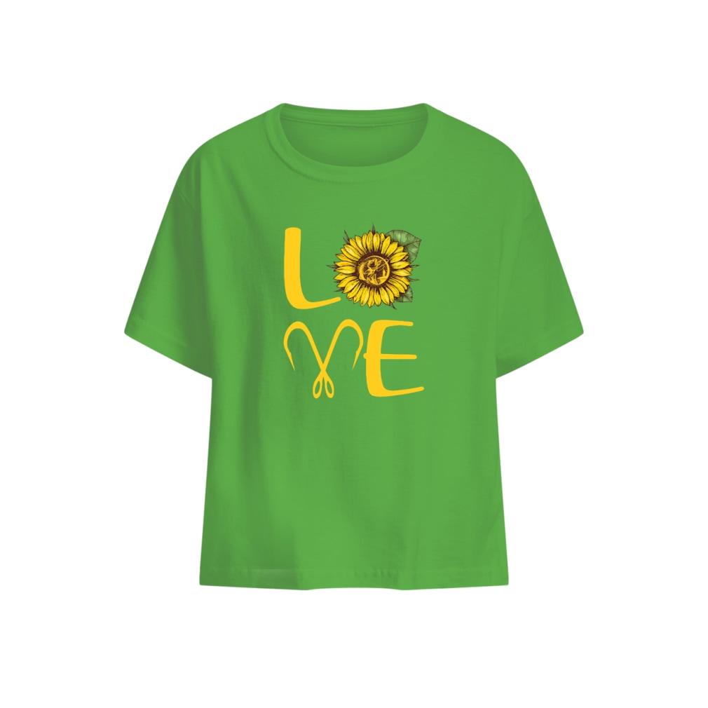 Sunflower Love Fishing shirt baby t-shirt