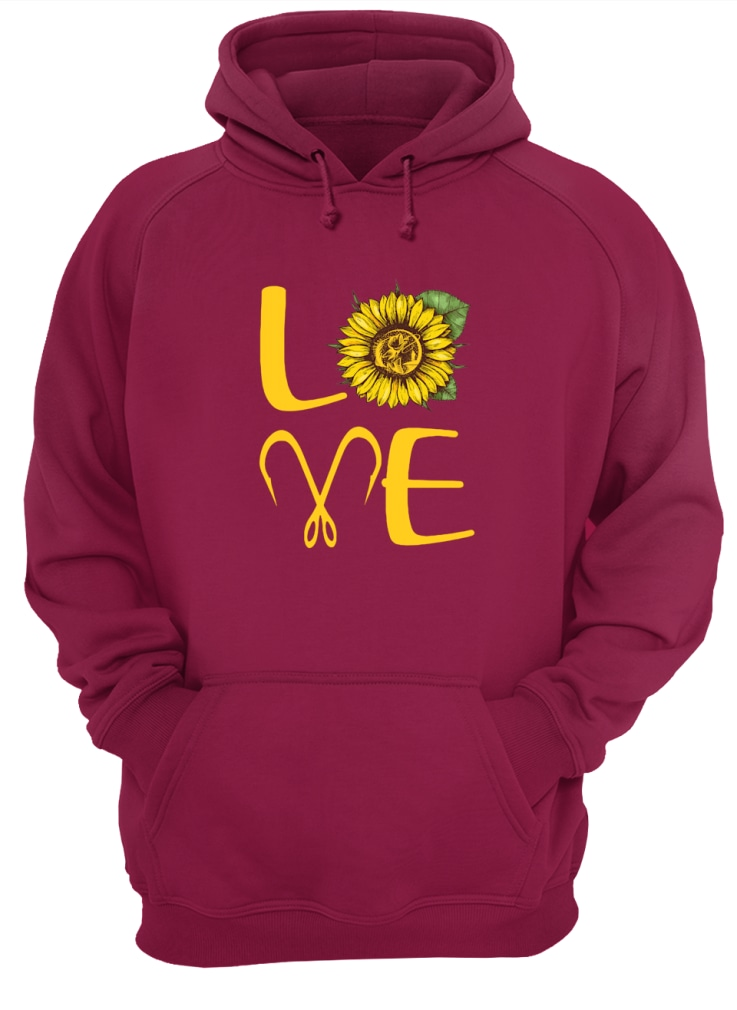 Sunflower Love Fishing shirt unisex hoodie