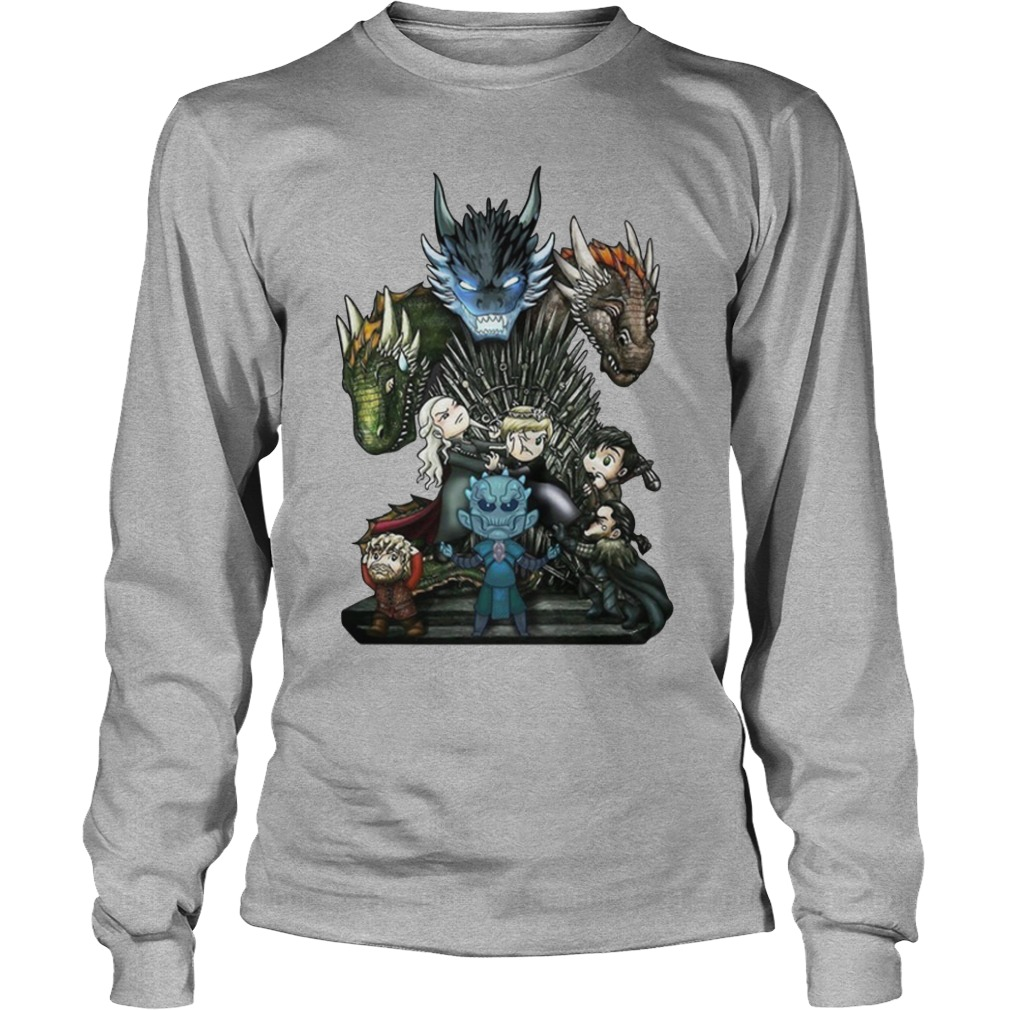 A game of thrones GOT chibi shirt unisex longsleeve tee
