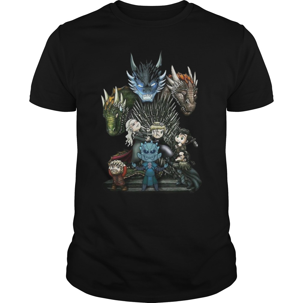 A game of thrones GOT chibi shirt unisex tee