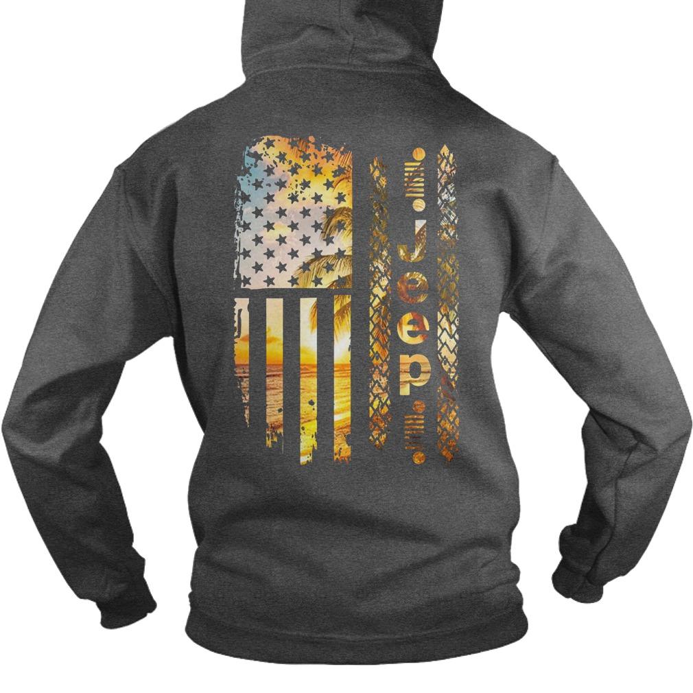 American Flag Jeep shirt hoodie