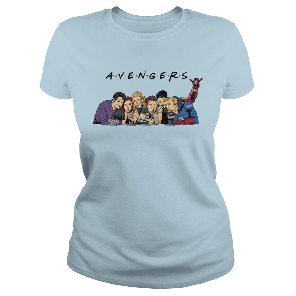 Avengers Endgame drink water Captain America Thor Iron man shirt lady tee